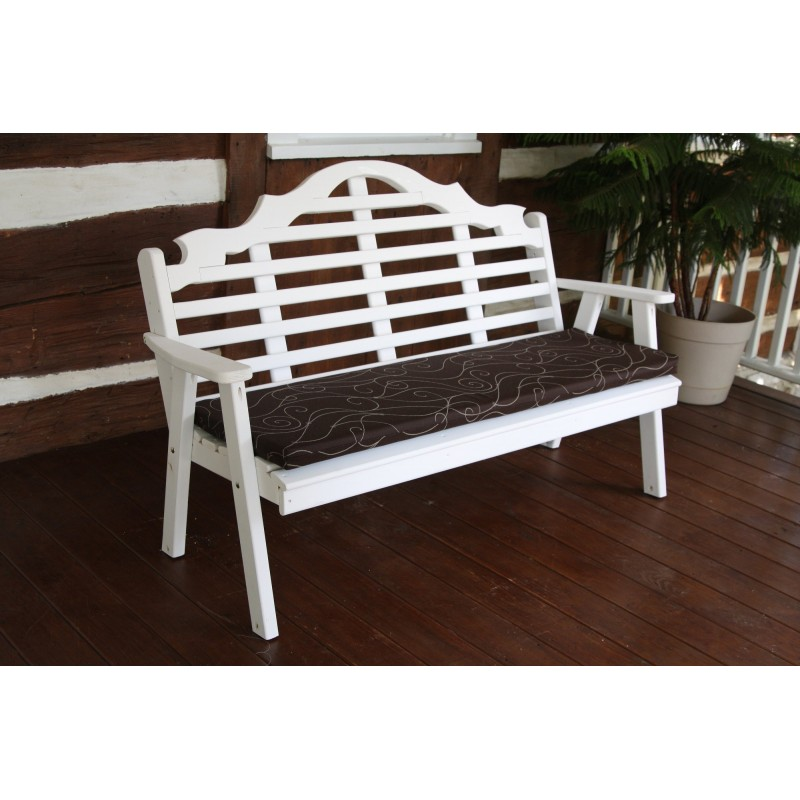 6 ft bench porch swing glider outdoor cushion furniture barn usa - Outdoor furniture foot pads ...