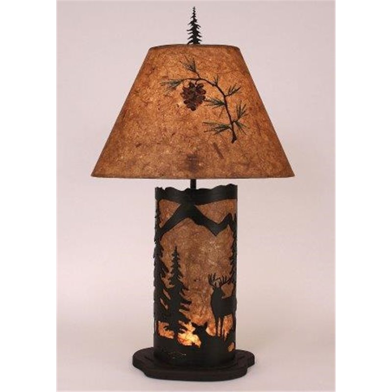 Small Table Lamp With Metal Amp Parchment Shade