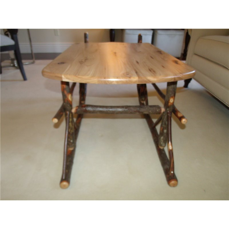 Sleigh Coffee Table Part - 24: ... Rustic Hickory Sleigh Coffee Table - Hickory U0026 Oak Or All Hickory ...