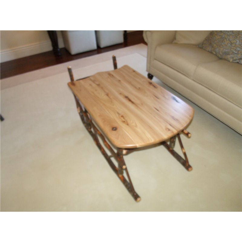Sleigh Coffee Table Part - 19: ... Rustic Hickory Sleigh Coffee Table - Hickory U0026 Oak Or All Hickory ...