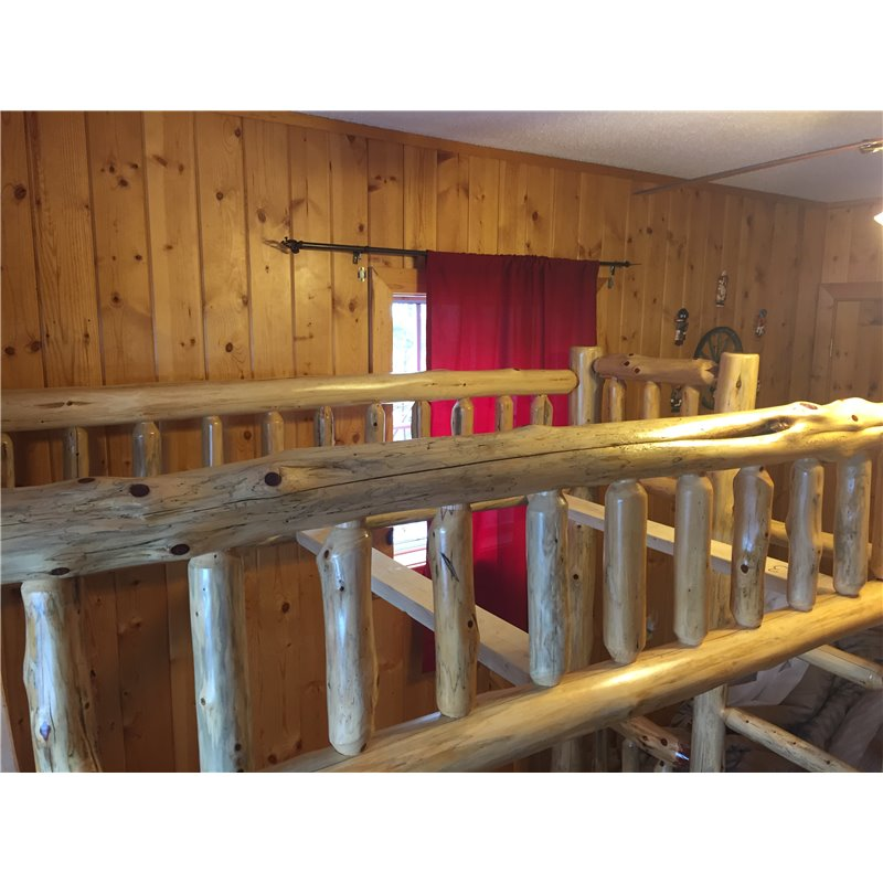 Red cedar log bunk beds for Log style beds