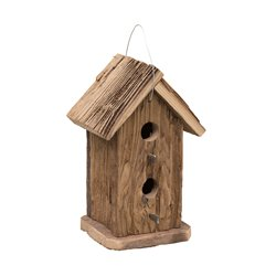 Rustic Barnwood 2 Story Double Hole Bird House