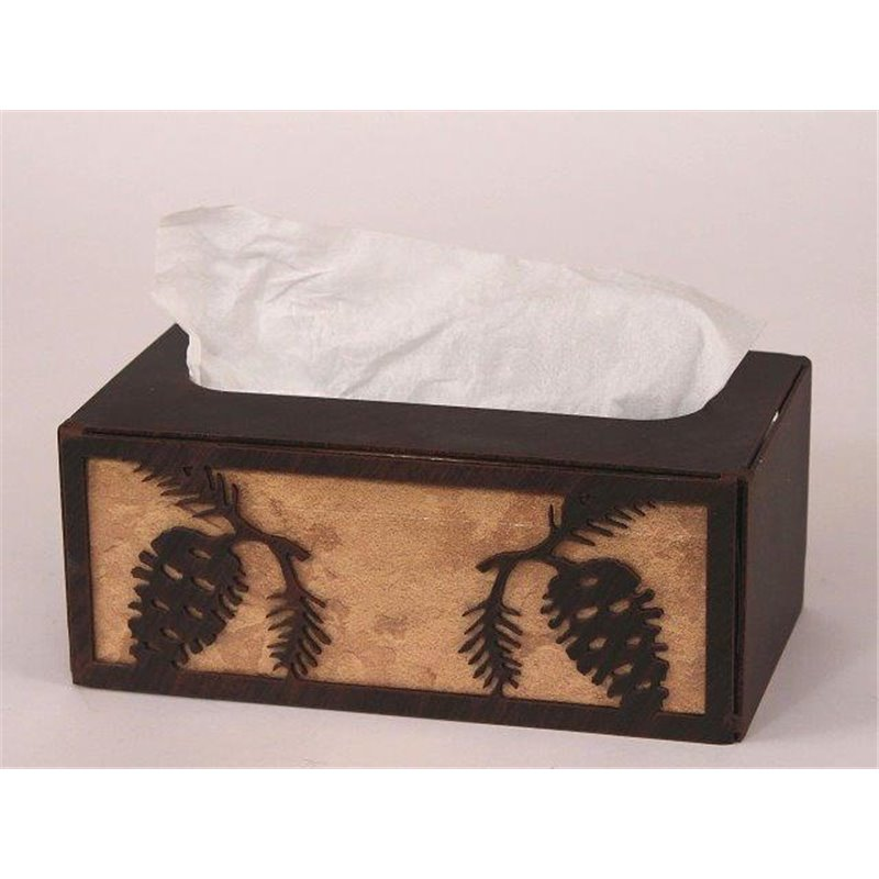Wrought Iron Pine Cone Collection   Tissue Box Covers