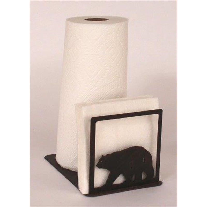 wrought iron bear collection paper towel napkin holders