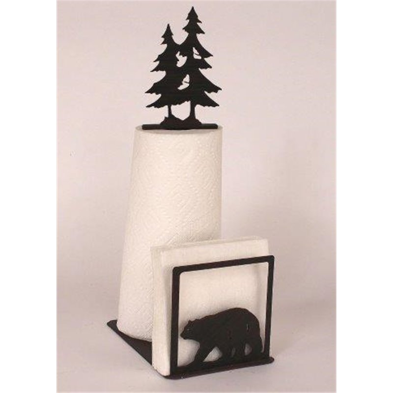 wrought iron bear collection paper towel napkin holders - Napkin Holders