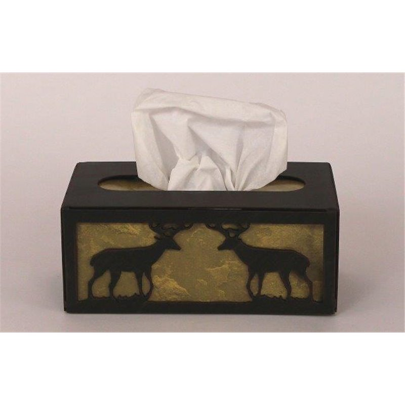 wrought iron deer collection tissue box covers