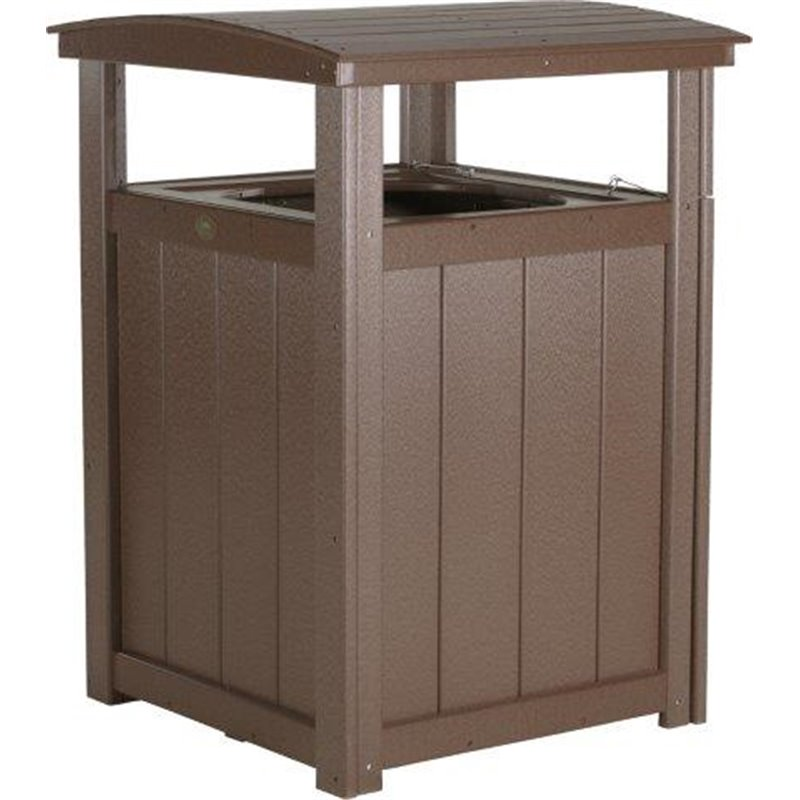 Commercial Grade Poly Lumber Trash Can
