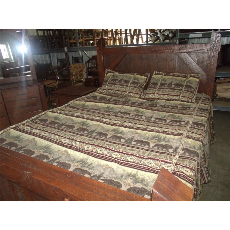 rustic rough cut red oak king queen full or twin bed
