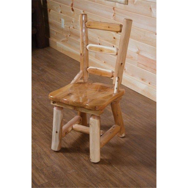 ... Rustic White Cedar Log Dining Table Set *with 4 Or 6 Chairs*  Amish ...