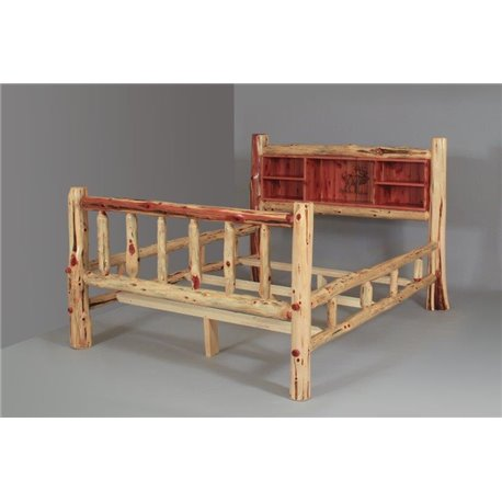 Double Side Rail With Spindles Amp Woodburn Book Shelf Headboard