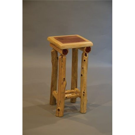 Rustic Red Cedar Log Small Side Table