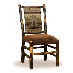 Two Rustic Hickory Dining Chairs - Low Back