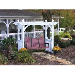 Outdoor Vinyl Classic Pergola Style Swing Stand