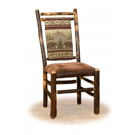 Two Rustic Hickory Dining Chairs - Medium Back