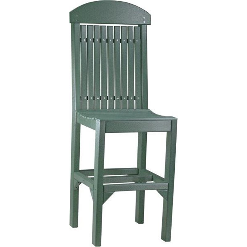 ... Poly Outdoor Regular High Back Chairs - Bar, Counter, or Dining Height