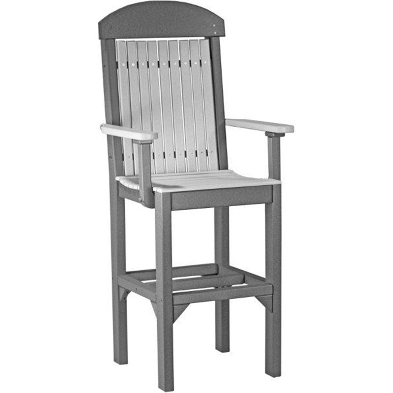 ... Poly Outdoor High Back Captain Chairs - Bar, Counter, or Dining Height