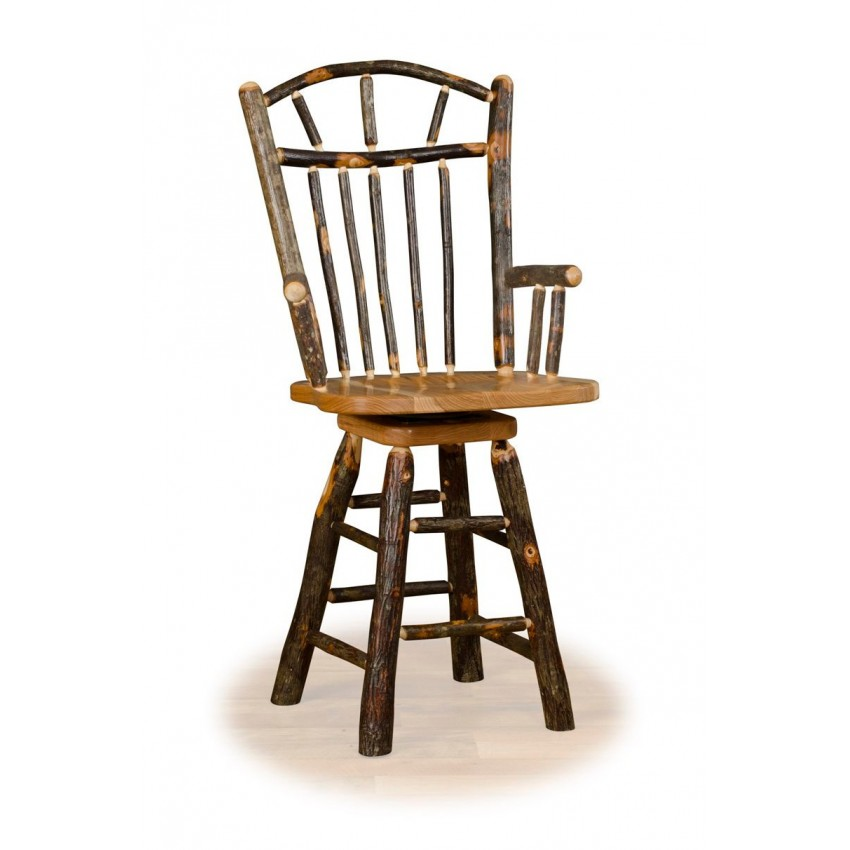 Kitchen Chairs Kitchen Chairs Wheels : rustic hickory 30 wagon wheel swivel bar stool with arms hickory oak or all hickory from kitchenchairstrends.blogspot.com size 850 x 850 jpeg 63kB