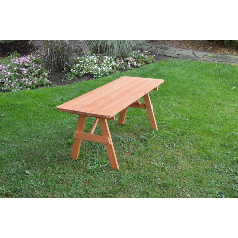 Pressure treated pine picnic table