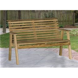 Pressure Treated Pine 4 Foot Rollback Bench