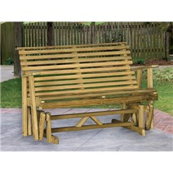 pressure treated pine rollback glider bench 4 u0026 5 foot lengths available - Glider Bench