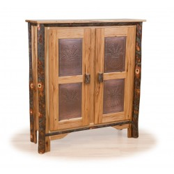 Rustic Hickory Double Pie Safe - Hickory & Oak or All Hickory