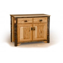 Rustic Hickory 2 Door Buffet - Hickory & Oak or All Hickory
