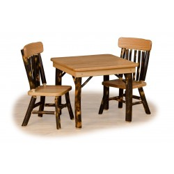 Rustic Hickory Childrens' Table and Chairs