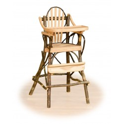 Rustic Hickory High Chair with Flip Tray