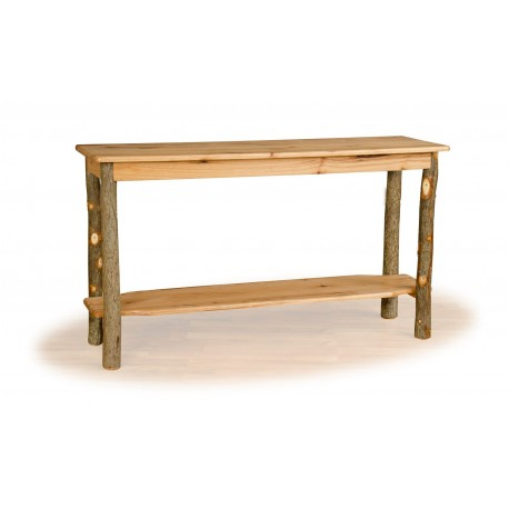 Rustic Hickory Sofa Table - Hickory & Oak or All Hickory