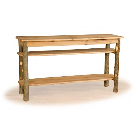 Rustic Hickory Sofa Table / TV Stand - Hickory & Oak or All Hickory