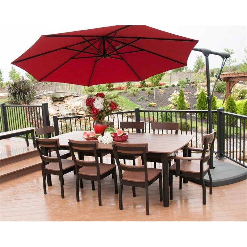 10 foot cantilever off set sunbrella umbrella