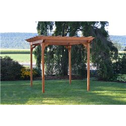 8' x 8' Western Cedar Pergola with Swing Hardware