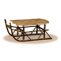 Rustic Hickory Sleigh Coffee Table - Hickory & Oak or All Hickory