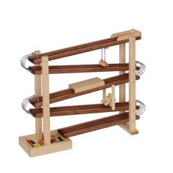Wooden Marble Flyer Race Track