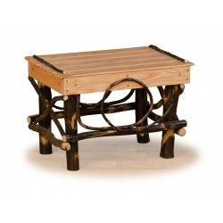Rustic Hickory & Oak Foot Stool