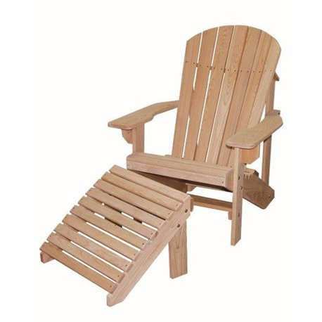 Cypress Adirondack Chair With Foot Rest