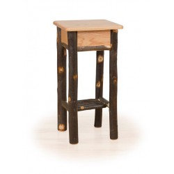 Rustic Hickory & Oak Phone Stand / Tall End Table