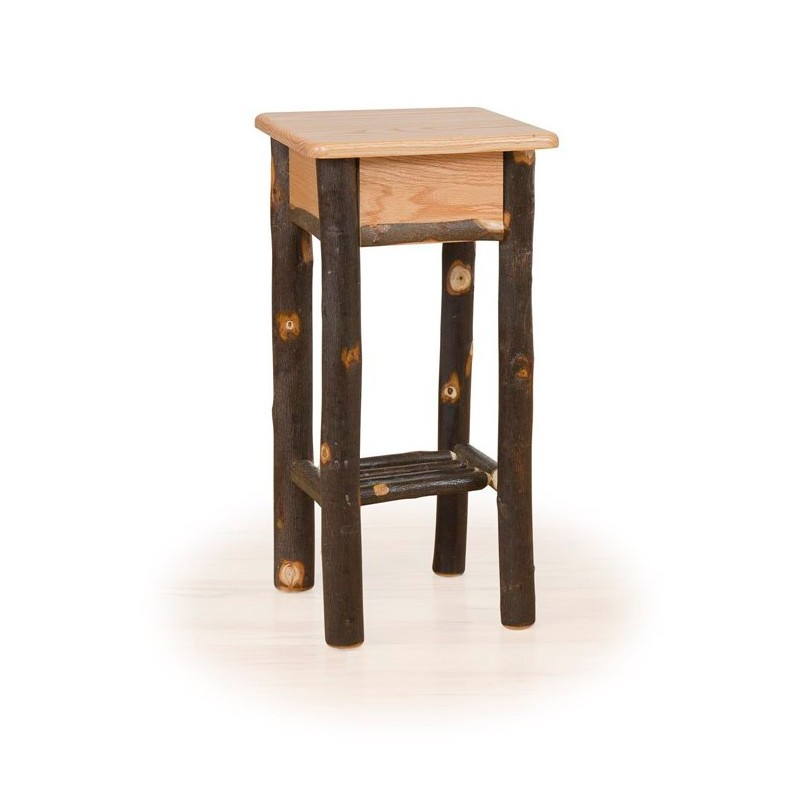 Rustic Hickory U0026 Oak Phone Stand / Tall End Table ...
