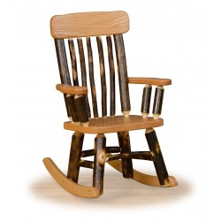 Rustic Hickory & Oak Twig Back Childrens' Rocker