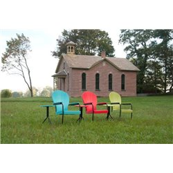 Retro Series Outdoor Manchester Poly Patio chair - Aruba Blue, Red, & Lime Green
