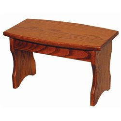 Child's Oak Curved Front Bench