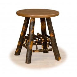 Rustic Hickory Lamp Table - Hickory & Oak or All Hickory