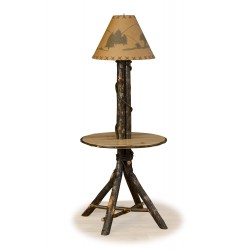 Rustic Hickory Floor-Table Lamp
