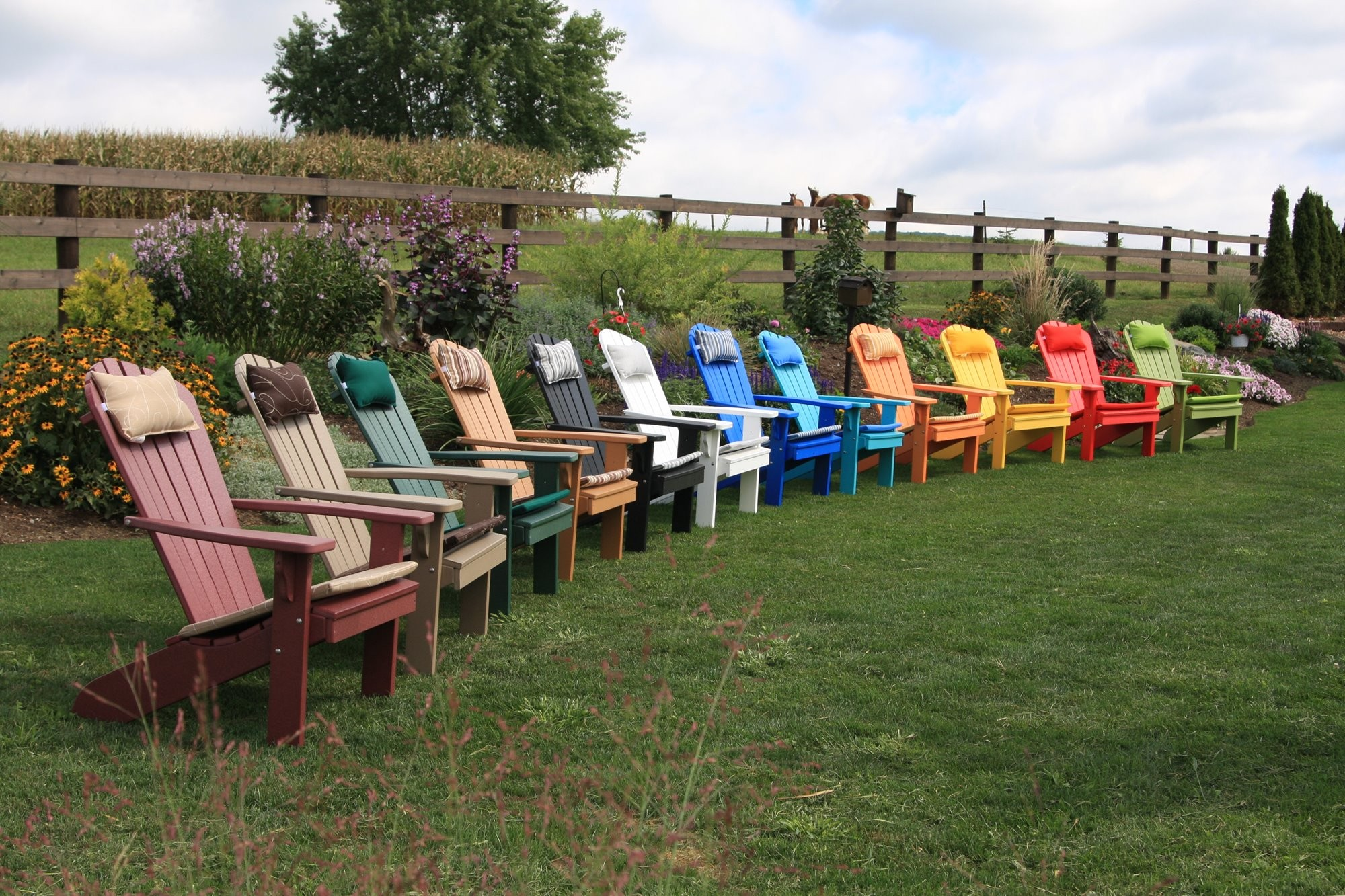 Colorful adirondack chairs - Adirondack Chair Outdoor Head Pillow