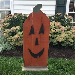 Primitive Rustic Large Wooden Plank Standing Mr Pumpkin