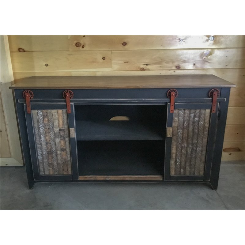 Primitive 5 Foot Tv Stand With Sliding Barn Doors Choice