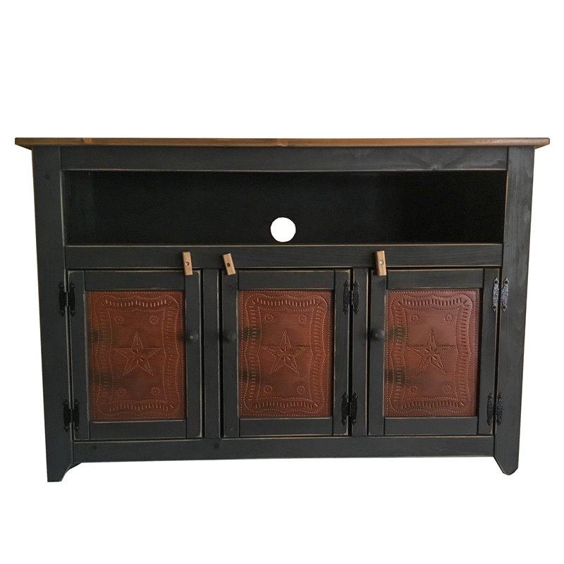 Primitive 50 Quot Tv Stand With Decorative Tins