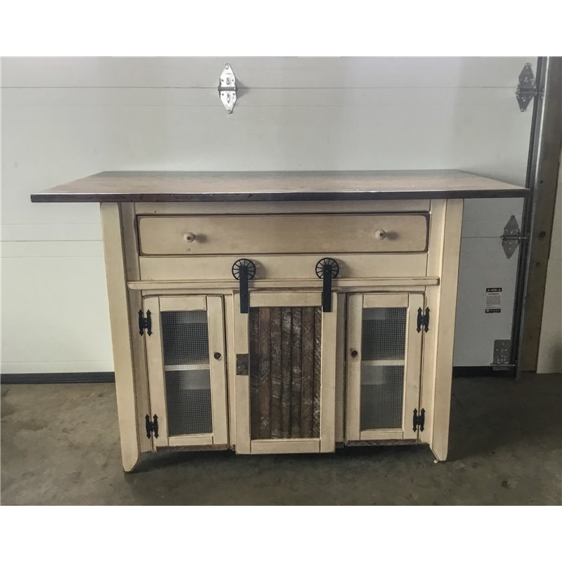 Primitive kitchen island in counter height set 2 sizes for Kitchen island height