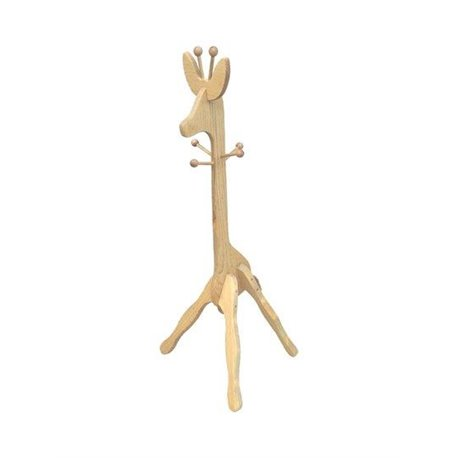 Pine 4 foot Child Size Giraffe Coat Rack - Unfinished