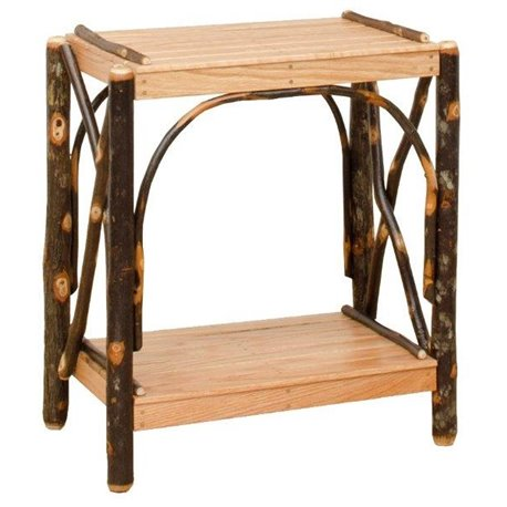 Rustic Hickory 2 Tier Rectangle End Table